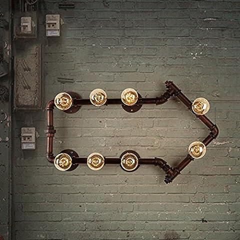 FHK,Wandleuchten Amerikanischen Retro-Industriewandlampe Gang Treppe kreative Persönlichkeit Hochbett Restaurant und Bar Eisenrohr Wand Dekorative Wandleuchten