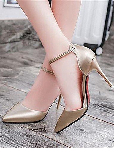 WSS 2016 Chaussures Femme-Habillé-Noir / Blanc / Argent / Or-Talon Aiguille-Talons-Talons-Similicuir white-us6.5-7 / eu37 / uk4.5-5 / cn37