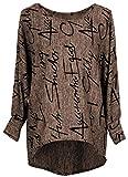 Emma & Giovanni - Pullover/Sweatshirt Oversize- Damen (XL/XXL, Braun)