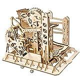 LDB SHOP Heben Achterbahn Form - 3D Puzzle Spiel Lasergeschnittenes Holzpuzzle DIY Montieren Spielzeug für Kinder
