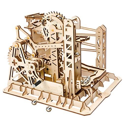YVSoo Puzzle 3D DIY Bloques de Construcción Modelo de Juguete - Montaña Rusa (25.2*22.7*20.3cm, C)