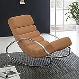 FineBuy Relaxliege Sessel Fernsehsessel Farbe braun Relaxsessel Design Schaukelstuhl Wippstuhl modern