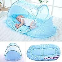 Urben Life Infant Reisebett faltbares tragbares Babybett mit Moskitonetz und Spieluhr Kinderbett f/ür Reisen