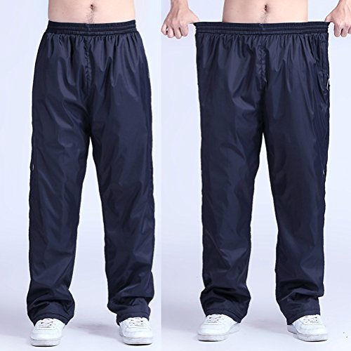 Zhhlaixing Comfortable Plus Size Sports Trousers Fashion Mens Fitness Loose Casual Pants Blue