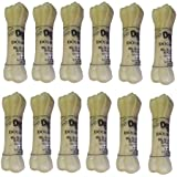 Dog Lovers Rawhide Pressed Chew Dog Bone 3 Inches Pack Of 12
