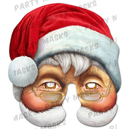 Santa Character Face Mask Hen Stag Parties Christmas Party Halloween Fancy Dress New Fun Masks