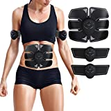 Abs Trainer Ab Belt, EMS Abdominal Muscle Stimulator Muscle Toning Belts Home Workout Fitness Device for Men & Women