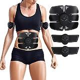 Electrostimulateur Musculaire,EMS Ceinture abdominale,Appareil Abdominal Massage,Abdominal/Bras/Cuisses Muscle Stimulateur-Hommes et Femmes