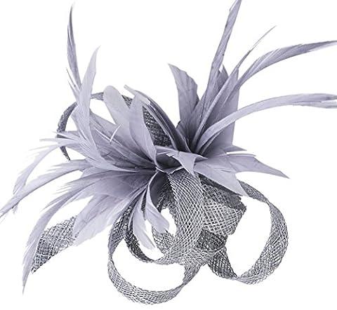 Fascigirl Pince à Cheveux Plume Fascinator Femmes Mariée Broche Fleur Corsage Pour Mariage
