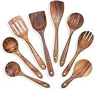 Wooden Kitchen Cooking Utensils Set 8 Teak Cooking Utensil Tools Cooking Spoon Set Kitchen Utensils Gadgets Se