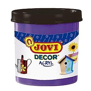 Jovi - Acryl, Caja de 6 Botes, Pintura multisuperficie, Color Violeta (67023)