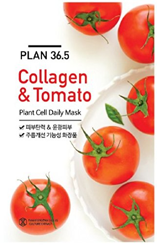 Nature Factory Plan 36.5 Plant Cell Daily Facial Mask Sheet x 3 fogli – collagene e pomodoro