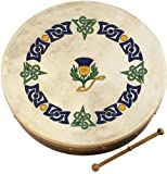 "18 ""Waltons Celtic Thistle Design Irische Bodhrán"