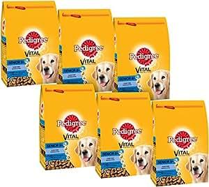 PEDIGREE - SENIOR 8+ - Croquettes pour chiens au Poulet, aux Légumes et au Riz - Lot de 3 sacs de 2,5 Kg