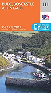 OS Explorer Map (111) Bude, Boscastle and Tintagel