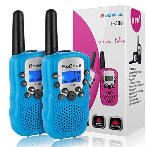 �te Kinder Walkie Talkie Set mit lampe LCD Dispplay / VOX PMR Lizenzfrei Walky Talky 8 Kanäle 0.5w 3km Walki Talki Geschenke für Kinder ab 3 5 8 Jahre (2er-Set, Blau) ()