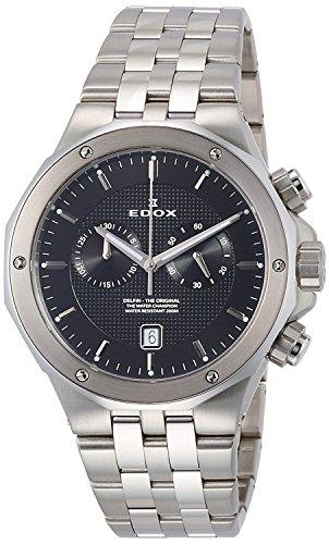 EDOX reloj cronógrafo de cuarzo de Delfin 10110–3M-NIN hombre