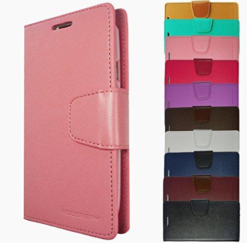 Für Samsung Galaxy Book Tasche Handy Hülle Etui Flip Cover Klapptasche Galaxy Alpha G850 Schwarz + Displayschutzfolie Rosa + Displayschutzfolie