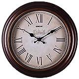 #8: Oreva Ajanta (Oreva) Quartz Round Plastic Wall Clock (30.5 Cm X 4 Cm X 30.5 Cm, Brown)