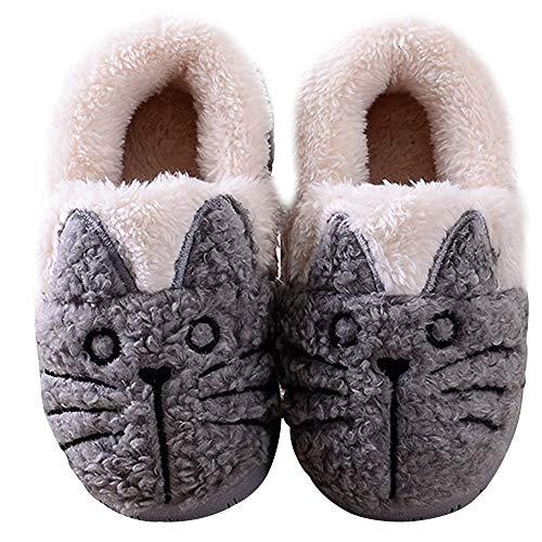 Zapatillas de Esta por casa Animales/Gatos Invierno interio Suave para Familia niños/niñas/Mujer/Hombre...