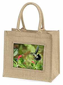 Advanta Ermite Vert Humming Bird Grand sac de courses/cadeau de Noël, Jute, Beige/naturel, 42x 34.5x 2cm