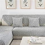 YLCJ 3-Sitzer-Sofabezug mit Plüsch-Halbinsel Geeignet für Antirutsch-Beschichtung für weiche Tiere, 1 Stück, Grau, 1Stück90 * 210 cm