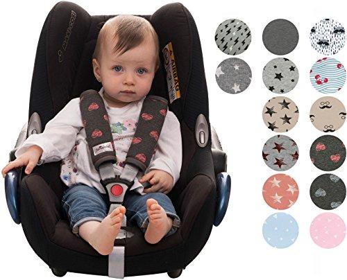 Preisvergleich Produktbild Gurtpolster Gurtpolster Set - universal für Babyschale, Buggy, Kinderwagen, Autositz (z.B. Maxi Cosi City SPS, Cabrio, Cybex Aton usw.) Janabebe®