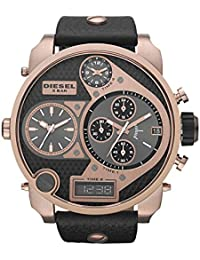 Diesel DZ7261's Watch Quartz Chronograph Stopwatch/Luminous hands-Black Leather Strap