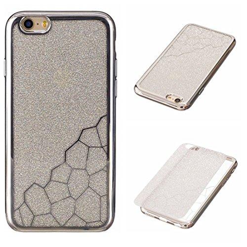 GHC Cases & Covers, Für iPhone 6 & 6s Galvanisieren Kleine Würfel TPU Schutzmaßnahmen Rückseiten Fall Fall ( Color : Blue ) Silver