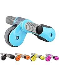 Plegable y portátil AB Roller Fitness equipo multicolor entrenamiento muscular Abdominal ejercicio rueda, azul