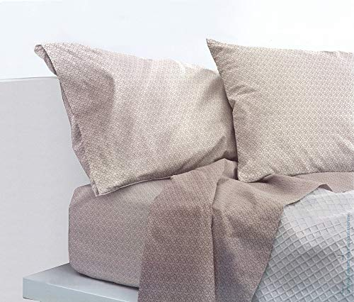 Bassetti Parure de lit complète de Trendy Art. Barr var. Marron + abattant Parfum Linge pour armoires Seulement by biancocasa