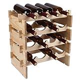 Lh home Weinregal Holz Überlagert Weinflasche Regal Europäischen Kreative Dekoration Display Rack Bar Overlay Stack (Größe : 4 Item)