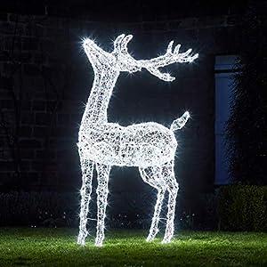 Lights4fun Grande Ciervo Luminoso Acrilico