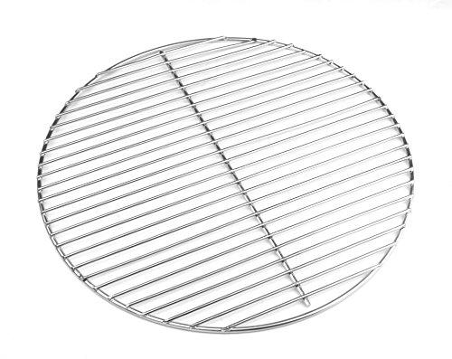Hero, griglia in acciaio inox 44,5 cm 4/3 mm per barbecue a sfera 45-46-47 cm adatta anche a Weber 47