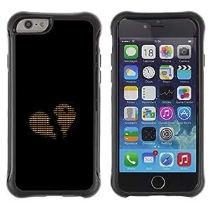 ZAKO CASES / Apple Iphone 6 PLUS 5.5 / Ascii Code Heart Love Binary / Robuste Antichoc Coverture Shell Armure Coque Coq Cas Etui Housse Case Cover Slim Armor