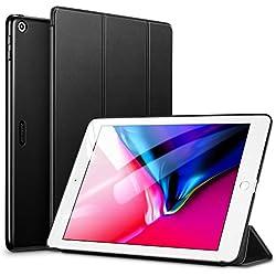 ESR Coque pour iPad 2017/2018, Smart Cover Case Housse Étui de Protection Ultra Fin avec Support et Mise en Veille Automatique pour iPad 9,7 Pouces 5ème et 6ème génération A1822/A1823 (Noir)