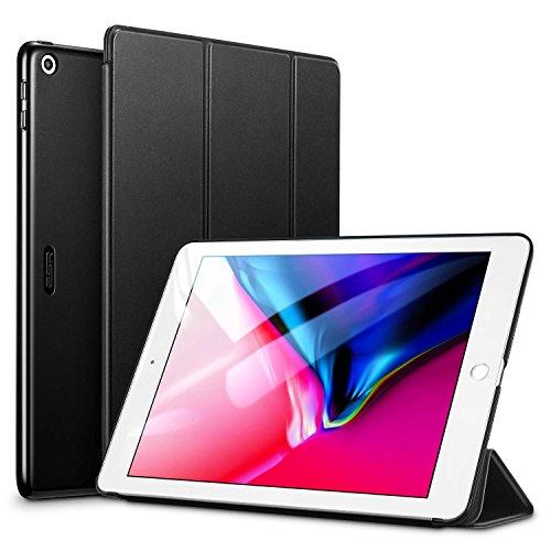 ESR Hülle Kompatibel mit iPad 2018 / iPad 2017 Modell 9,7 Zoll - Ultra Dünnes Smart Case Cover mit Auto Schlaf-/Aufwachfunktion - Kratzfeste Schutzhülle für iPad 6/5 Generation - Schwarz Ipad Flip Case