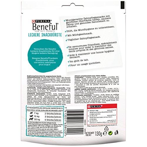 Beneful Leckere Snackbürste Hundesnack, Milch und Calcium, 6er Pack (6 x 130 g) - 2