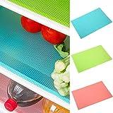 Greeiok Stuoie del frigorifero 1PC, possono essere tagliate le fodere del frigorifero stuoie anti-batterico anti-gelo impermeabile rilievi del frigorifero mensole del cassetto del cassetto