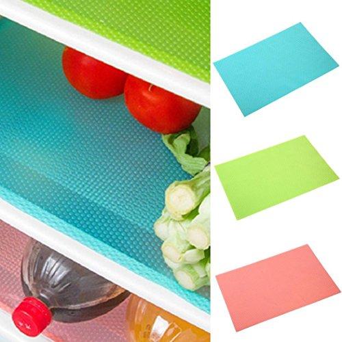 Greeiok 1 STÜCK Kühlschrank Matten, Kann Geschnitten Werden Kühlschrank Liner Matten Antibakterielle Anti-Frost Wasserdicht Kühlschrank Pads Regale Schublade Tischsets -