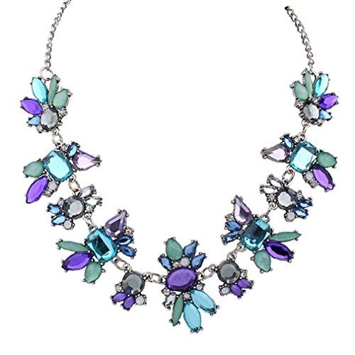 Collar para mujer, FEITONG Fresco Salvaje Moda Delicado Clavícula Collar (Púrpura)