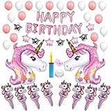 Geburtstag Party Dekoration Girlande Einhorn Luftballon partyzubehör Kindergeburtstag Set (QQ05)