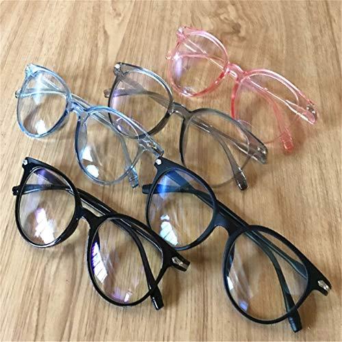 Blaulicht-Schutzbrille Anti Eyestrain Dekorative Brille Helle Computerstrahlenschutzbrille (Frame Color : Black)