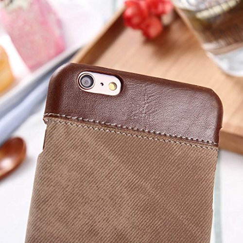 iPhone Case Cover Fashion Mix et correspondent couverture de cas de couleur, Cowboys Jeans motif couverture rigide pour Apple iPhone 6 6S ( Color : Black , Size : IPhone 6 6s ) Brown
