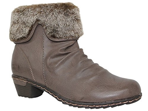 Foster Footwear Damen Kurzschaft Stiefel (Stiefel Pelz-trim)
