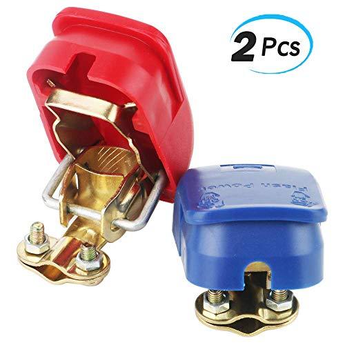 YGL 2 pezzi Connettori di Batteria a Sgancio Rapido Della Batteria Terminali Morsetti di Batteria 12V/24V per Auto, Camion, Barca