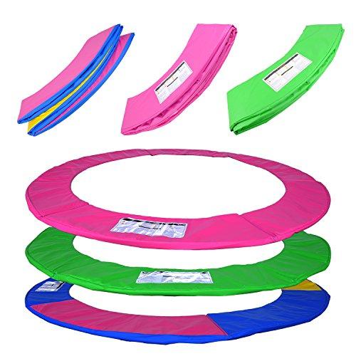 ULTRAPOWER-SPORTS-Federabdeckung-Randschutz-Randabdeckung-fr-Trampolin-244cm-305cm-366cm-Rahmenpolsterung-PinkGrnFarbige-PVC-UV-bestndig