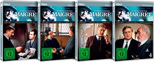 Maigret - Vol. 1 - 4 - Gesamtedition / 24 Folgen der Kult-Serie mit Bruno Cremer (Pidax Serien-Klassiker) [12 DVDs]