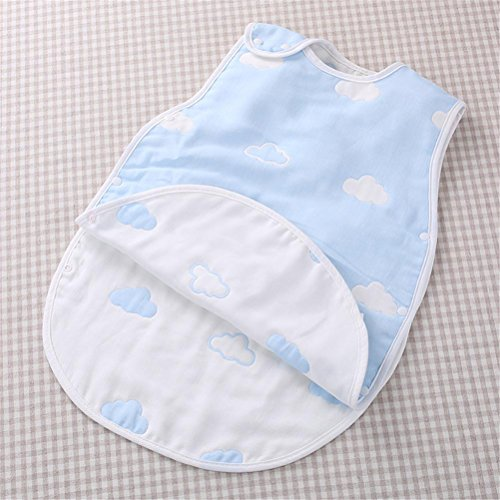 BABY SLEEPING BAG SIN MANGAS DE VERANO THIN SECTION RECIEN NACIDOS ALGODON SUAVE RESPIRABLE GASA BOLSA DE DORMIR   70CM