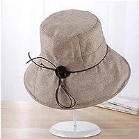 LTQ&qing Sombrero de pa?o de verano femenino sombrero de sol UV plegable , E , m (56-58cm)